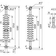 Линейный подвесной стержневой полимерный изолятор ЛК-70/110-III фото