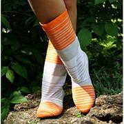 Сапоги коттон оранжевая полоса фото