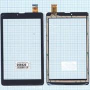 Сенсорное стекло (тачскрин) DH-0828A1-PG черное, Диагональ 8 фото
