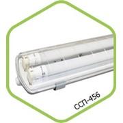 Светильник промышленный влагозащищенный ССП-456 2х18Вт фото