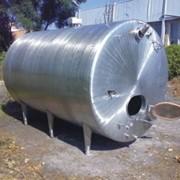 Ёмкость нержавеющая герметичная крышка с двумя кранами, 200 л, верхний кран 8 см от бортика фото