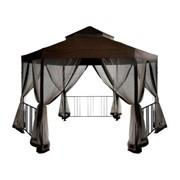 Шестигранный шатер для дачи с москитной сеткой Браунди фото