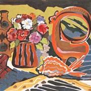 """Картина, """"Натюрморт с красной рыбкой"""" фото"""
