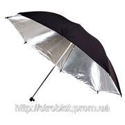 Зонт черно/серебяный (двухслойный) Phottix 101см фото