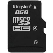 Карта памяти Kingston MicroSDHC 8GB Class 4 фото