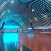 Ангар бескаркасный арочный оцинкованный теплый фото