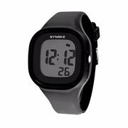 Силиконовые LED часы SHORS SH-689, Черный фото