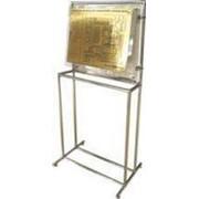 Noname Тактильный стенд азбукой Брайля (под металл) + Усиленная металлическая напольная стойка фото