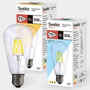 Лампа светодиодная Sweko 17LED-ST64-8W-230-3000K-Е27-СL фото