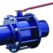 Кран шаровой газовый полнопроходной с литыми фланцами Ду40 фото
