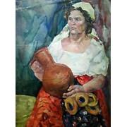"""""""Селянка"""" Каменская Надежда, картина 61х81 холст масло 1975 фото"""