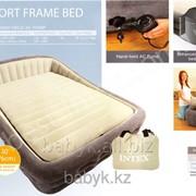 Двухместная Кровать+матрас Intex 67972 + электронасо+ сумка для переноски фото