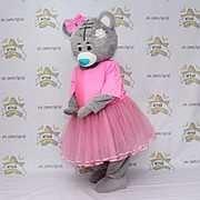 Ростовая кукла для аниматоров Медведь серый в юбке фото