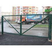 """Ворота откатные металлические """"3D"""" фото"""