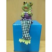 Лягушонок с лопаткой большой в одежде стоящий, арт. 3044А фото
