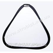 Треугольный отражатель Phottix белый/серебряный 80см фото