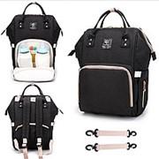 Сумка рюкзак для мамы с USB черный фото