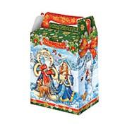 """Коробка для конфет новогодняя Fiesta """"Дед Мороз и Снегурочка"""" 1000 гр., 15010548 фото"""