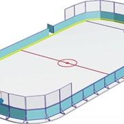 Корт хоккейный 58х28 с радиусом закругления R= 7 фото