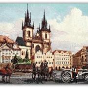 Гобелен с пейзажем Прага староместская площадь фото