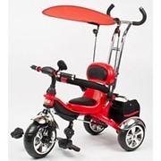 Велосипеды трехколесные, велосипед Profy Trike M 0690 , три колеса, съёмная корзина, красный фото