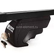 Багажник на крышу Инфинити ФХ (Infiniti FX) 2008-2013, стальные поперечины 125см с замком, Евродеталь. фото
