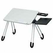"""Стол для ноутбука до 15.4"""" CBR CLT-13, подставка для мыши и кружки, складн., алюм. сплав фото"""