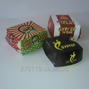 Упаковка картонная пищевая для фаст фуда фото