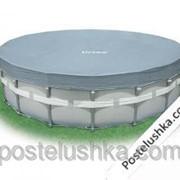 Чехол-тент для каркасного бассейна Deluxe Intex 57901 диаметр 488 см фото