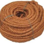 Веревка кокосовая диам. 6 мм фото