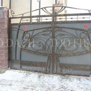 Кованые ворота 23 фото