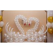 Свадебные лебеди из воздушных шаров под заказ.