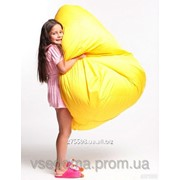 Детское кресло мешок груша желтое 100*75 см из ткани Оксфорд фото