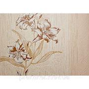 Обои флизилиновые Lanita Бьюти Д-184/2, коричневый цветок фото