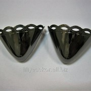 Носок для обуви металлический никель темный фото
