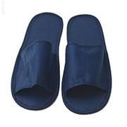 Тапочки на жест. подошве с откр. мысом M (1 пара) синие фото