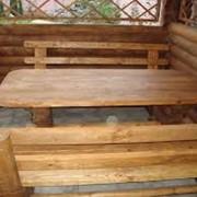 Мебель садово-парковая деревянная фото