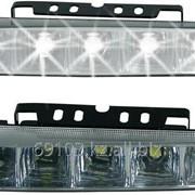 Дневные ходовые огни drl-10-1, 6 led-smd5630, 7.2w, 12v, 2 шт, металл 3m, корпус черный 1058795 фото