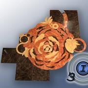 Фигурный раскрой керамической плитки и формирование напольного или настенного узора любой сложности и размеров. фото