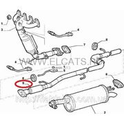 Труба выхлопная с резонатором (средняя часть) 1.9D-1.9JTD-1.9MJTD Doblo 2000-2011 46844563 (51762989) фото