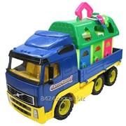 Автотранспортная игрушка Автомобиль борт.+домик д/зверей сетка Полесье фото