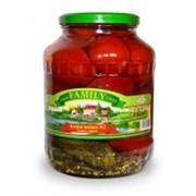 Ассорти (томаты, огурцы), 1700мл фото