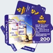 Изготовление таксофонных карт и интернет карт фото