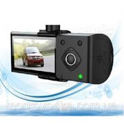 Видеорегистратор c GPS DVR H990S на 2 камеры, с GPS навигатором фото