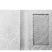 Обложка для паспорта белая флорис фото