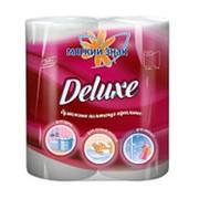 Полотенца бумажные Мягкий знак Deluxe белые 2-сл. 2шт (х24) фото