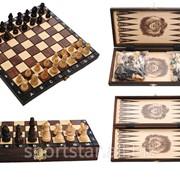 Шахматы, шашки, нарды 3 в 1 фото