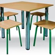 Стол для столовых квадратный, мебель для столовых, кухонная мебель на заказ фото