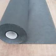 Флизелин клеевой сплошной чёрный ширина 100 см1рул - 23м фото