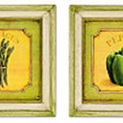 Картины Перец/Спаржа/Натюрморты (комплект из 2-х шт.) 24х24см. арт.1611-2 фото